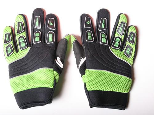 895bd4704 Dětské motocross rukavice zelené na minibike,minicross, čtyřkolku