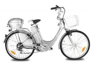 "ELEKTROKOLO - city bike 26"" silver"