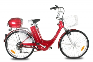 "ELEKTROKOLO - city bike 26"" red"